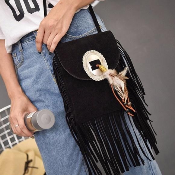 14a5527ec COWGIRL STORE Bags | Western Fringe Suede Crossbody Bag | Poshmark